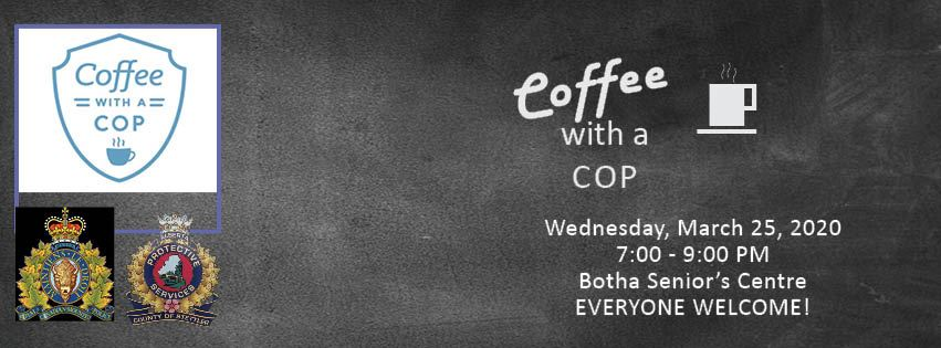 Coffee with a cop banner Botha