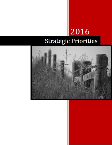 2016 Strategic Priorities