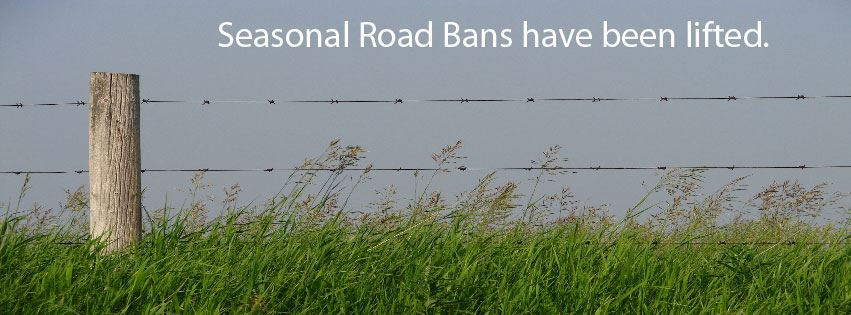 Road Bans Lifted