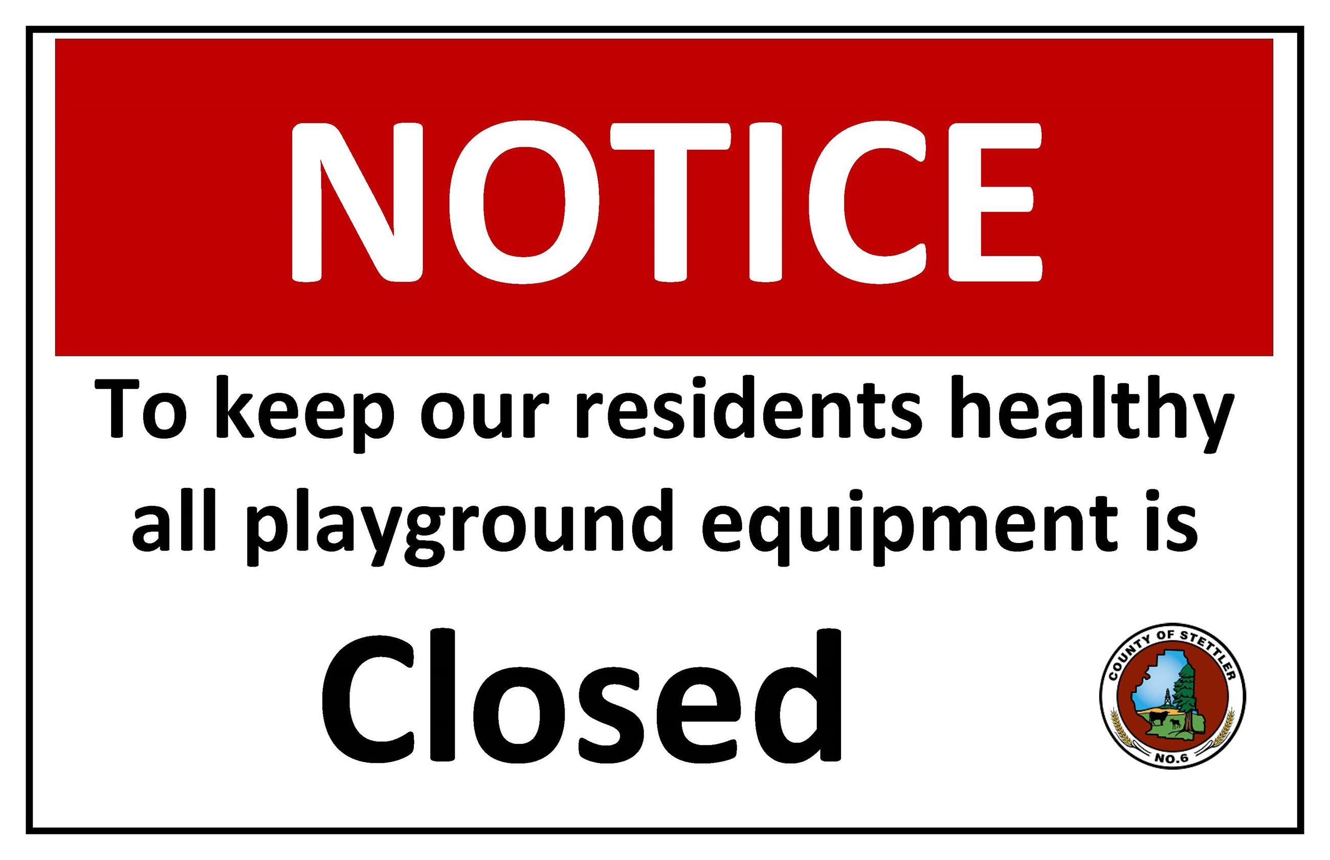 COVID 19 Playground Closed Sign